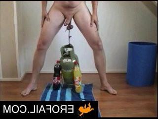 Weird guy with balls the same as man jar