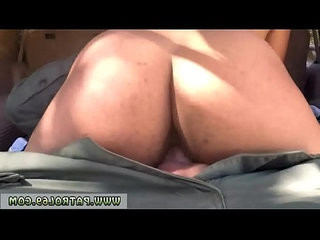 Border patrol sex and woman police officer first time ever with horny border