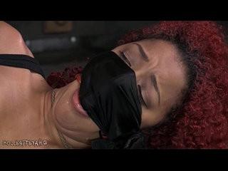 Mixed girl screams in bondage
