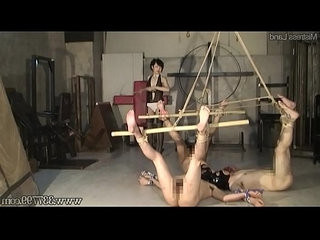 Japanese femdom strap on fuck and multiple bdsm