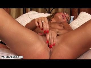 Sexy monica dildo insertion