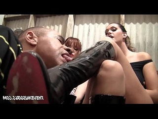 Jessi palmer and allison tyler boot and feet slave humiliation