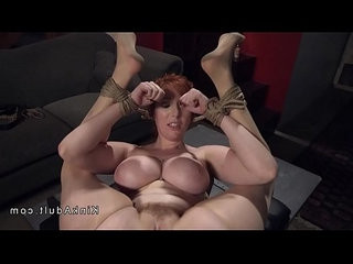 Muscled guy rough fucks huge tits redhead sub