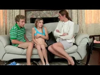 Strict stepmom hardcore strapon 3some with her stepdaughter