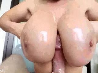 Big titted pornstar Kiarra Dior sucking a big cock