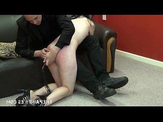 Sex slave blowjob and domination of spanked brunette english submissive fae corb
